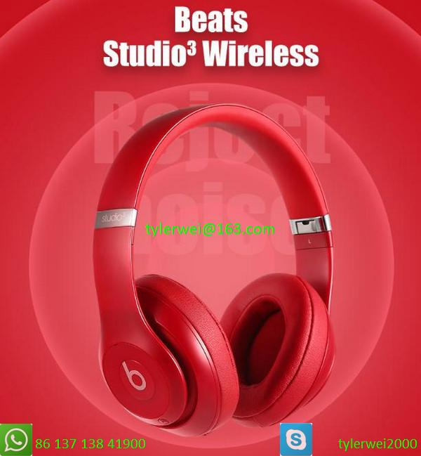 Beats by Dr. Dre Studio3  Wireless Headphones Noise Canceling - Red studio 3 1