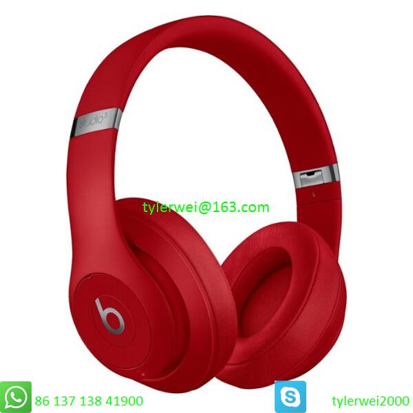 Beats by Dr. Dre Studio3  Wireless Headphones Noise Canceling - Red studio 3 2