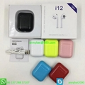 Cheap Airpods I12 TWS earbuds with good price from factory