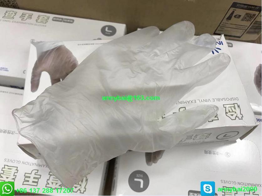 Disposable VINYL Examination Gloves against Coronavirus with CE  1