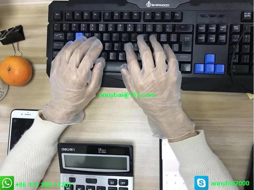 Disposable VINYL Examination Gloves against Coronavirus with CE  2