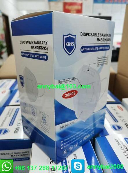 Disposable Sanitary Mask KN95 Facemask with CE FDA 100% qualified technology 1