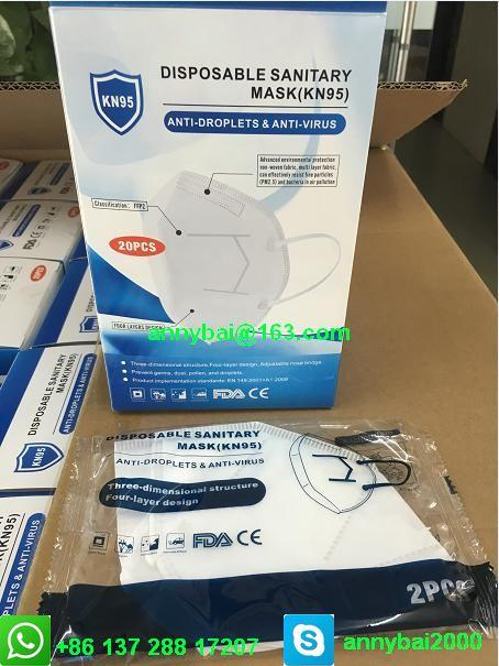 Disposable Sanitary Mask KN95 Facemask with CE FDA 100% qualified technology 8