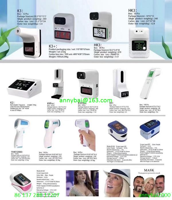 Marketing demands for Atomizer Oximeter Thermometer with high quality