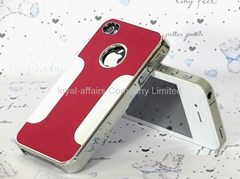 Luxury Aluminum Back Hard Case Cover Shell for iPhone 4 4s