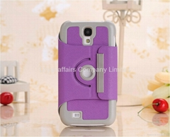 360 Degree Rotating Stand leather Case Cover for Samsung Galaxy S4 S IV i9500