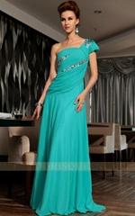 One Shoulder Fashion Evening Dresses