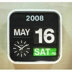 Flip Wall Clock Table Clock with Calendar 24cm/32cm/43cm