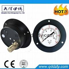 steel case pressure gauge with flange