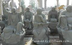 十八羅漢石雕