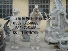 嗩吶迎新儿童雕塑