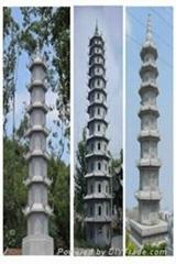 佛教建築石塔經幢