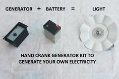 HAND CRANKING GENERATOR KIT