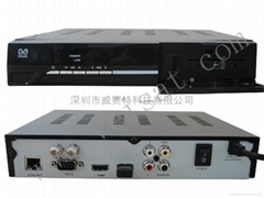 DVB-S2  Network share  satellite receiver with low cost