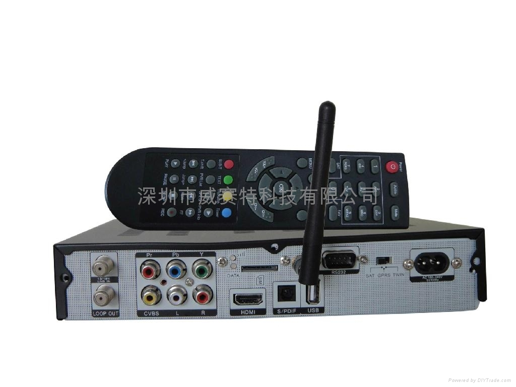 GPRS dongle with hd receiver 2 in 1 decode Nagra 3 channels