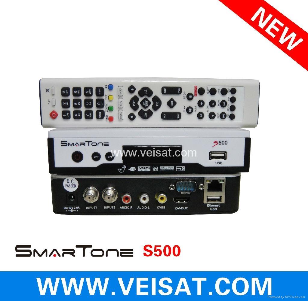 Twin Turner satellite receiver IKS SKS Free Smartone S500 3