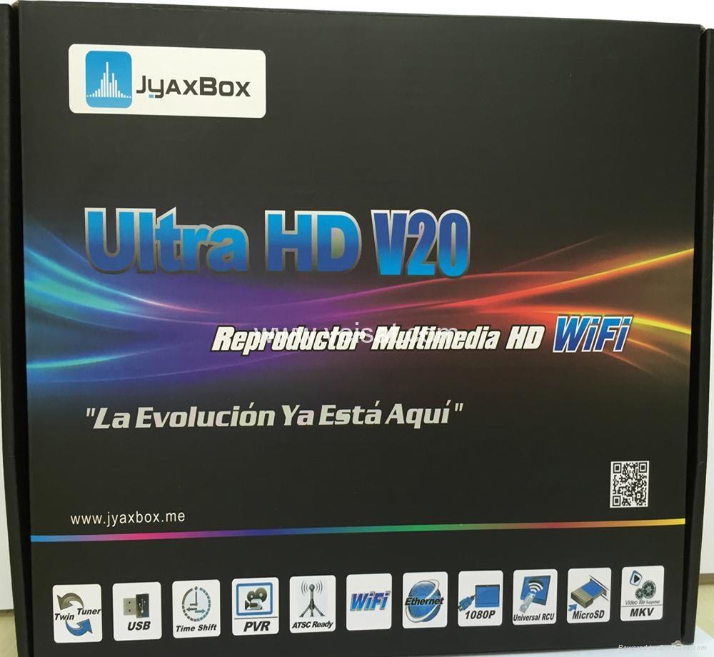 北美热销卫星接收器JYAXBOX ULTRA HD V30 带JB200与WIFI 1