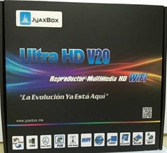 北美热销卫星接收器JYAXBOX ULTRA HD V30 带JB200与WIFI