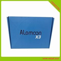 Alemoon X3 DVB-T2 地面接收衛星機頂盒支持H.265 HEVC