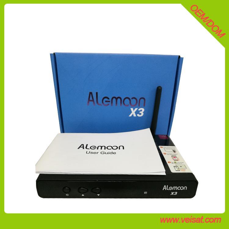 Alemoon X3 DVB-T2 地面接收衛星機頂盒支持H.265 HEVC 2