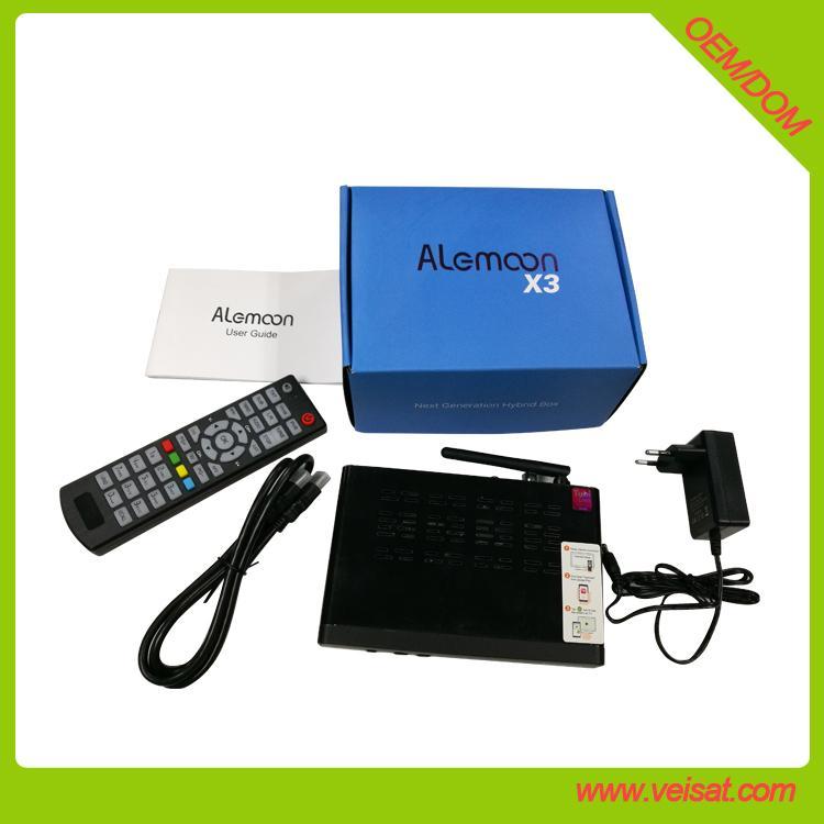 Alemoon X3 DVB-T2 地面接收衛星機頂盒支持H.265 HEVC 9