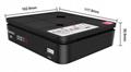 Alemoon X1 高清数字卫星接收器支持H.265 HEVC 4
