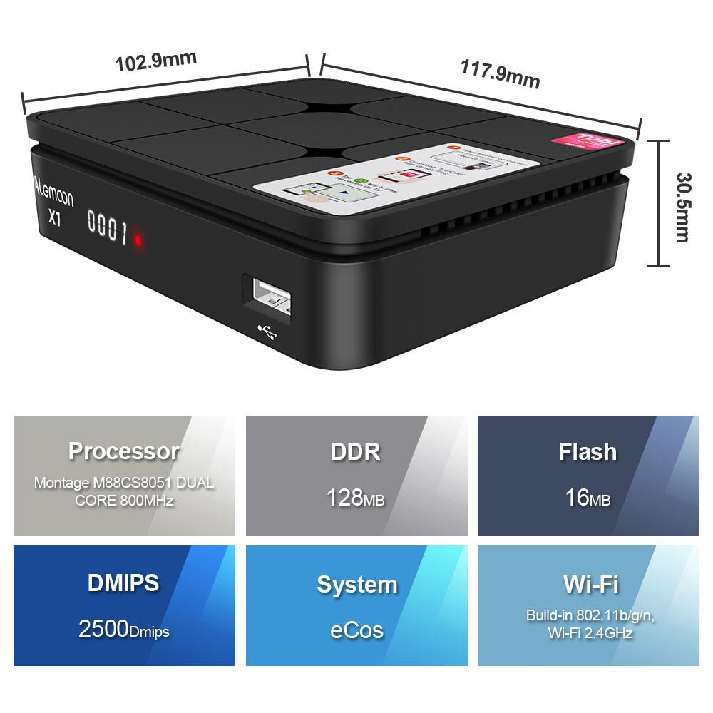 全球通用現貨Alemoon X1 DVB-S2 IPTV高清機頂盒 5