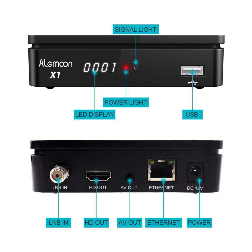 全球通用現貨Alemoon X1 DVB-S2 IPTV高清機頂盒 6