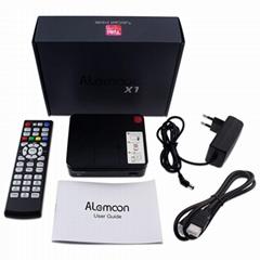 全球通用現貨Alemoon X1 DVB-S2 IPTV高清機頂盒