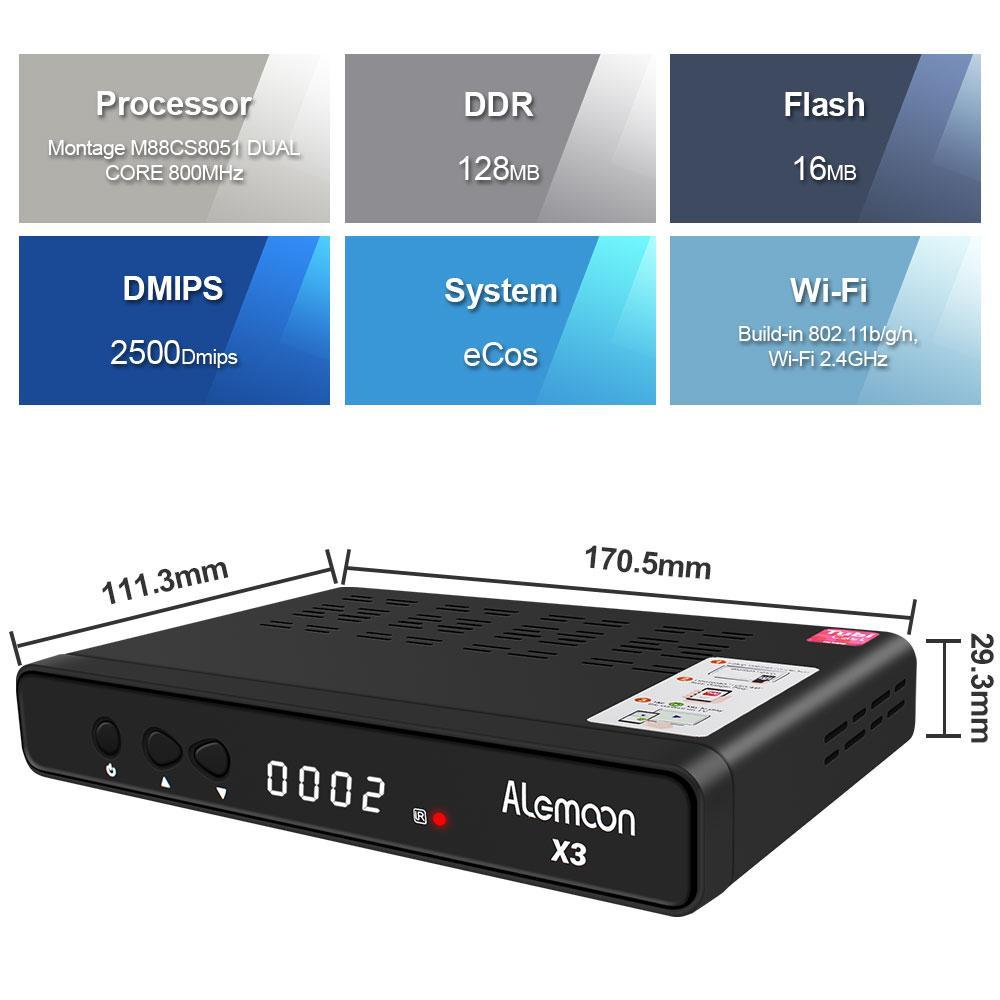 Alemmon X3厂家高清数字机顶盒内置WIFI支持IPTV带投屏功能 5