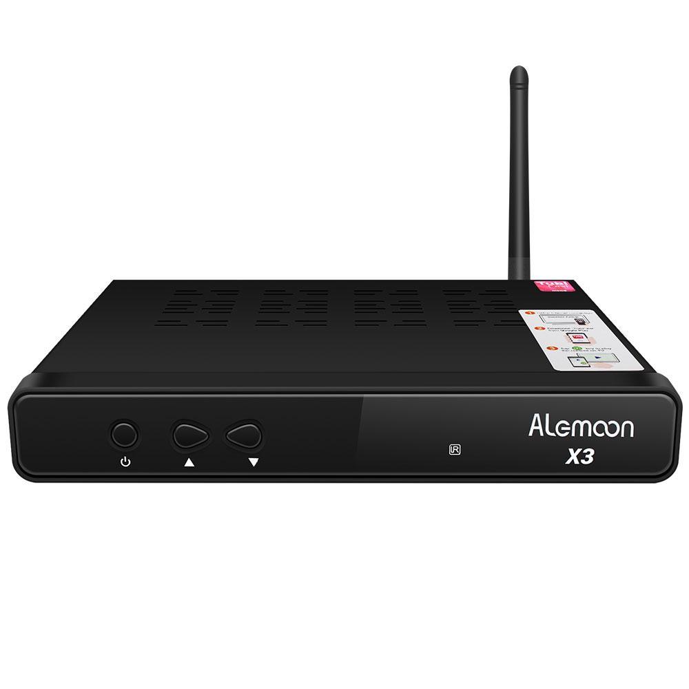 Alemmon X3厂家高清数字机顶盒内置WIFI支持IPTV带投屏功能 2