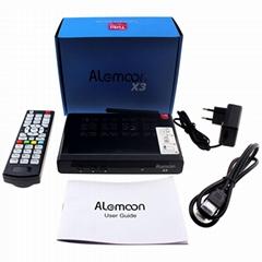 Alemmon X3厂家高清数字机顶盒内置WIFI支持IPTV带投屏功能