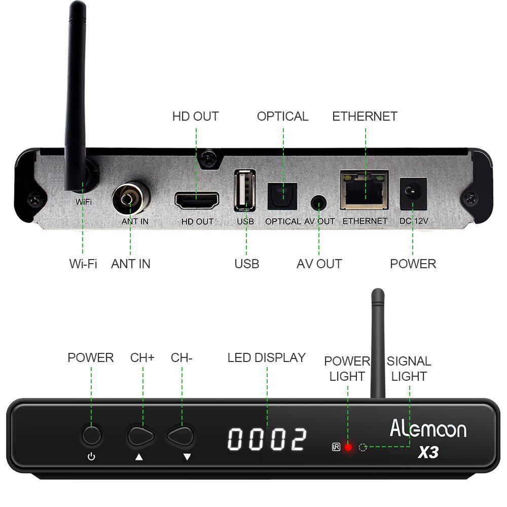 Alemmon X3廠家高清數字機頂盒內置WIFI支持IPTV帶投屏功能 6
