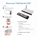 厂家直销超高清Alemoon X5 DVB-S2+T2 Combo电视接受机内置WIFI带投屏功能 8