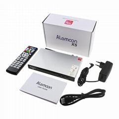 廠家直銷超高清Alemoon X5 DVB-S2+T2 Combo電視接受機內置WIFI帶投屏功能