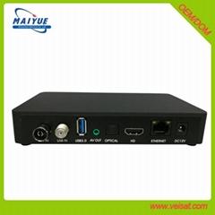 安卓+E2 DVB-S2+T2/C Combo 机顶盒欧洲市场