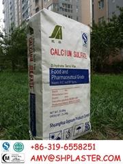 gypsum powder food grade