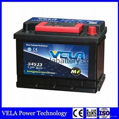 Factory Supply Best Price DIN45 Maintenance Free Lead Acid Car Battery