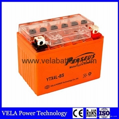 Cheap Price YTX4L-BS AGM Lead Acid Rechargeable Motorcycle Battery