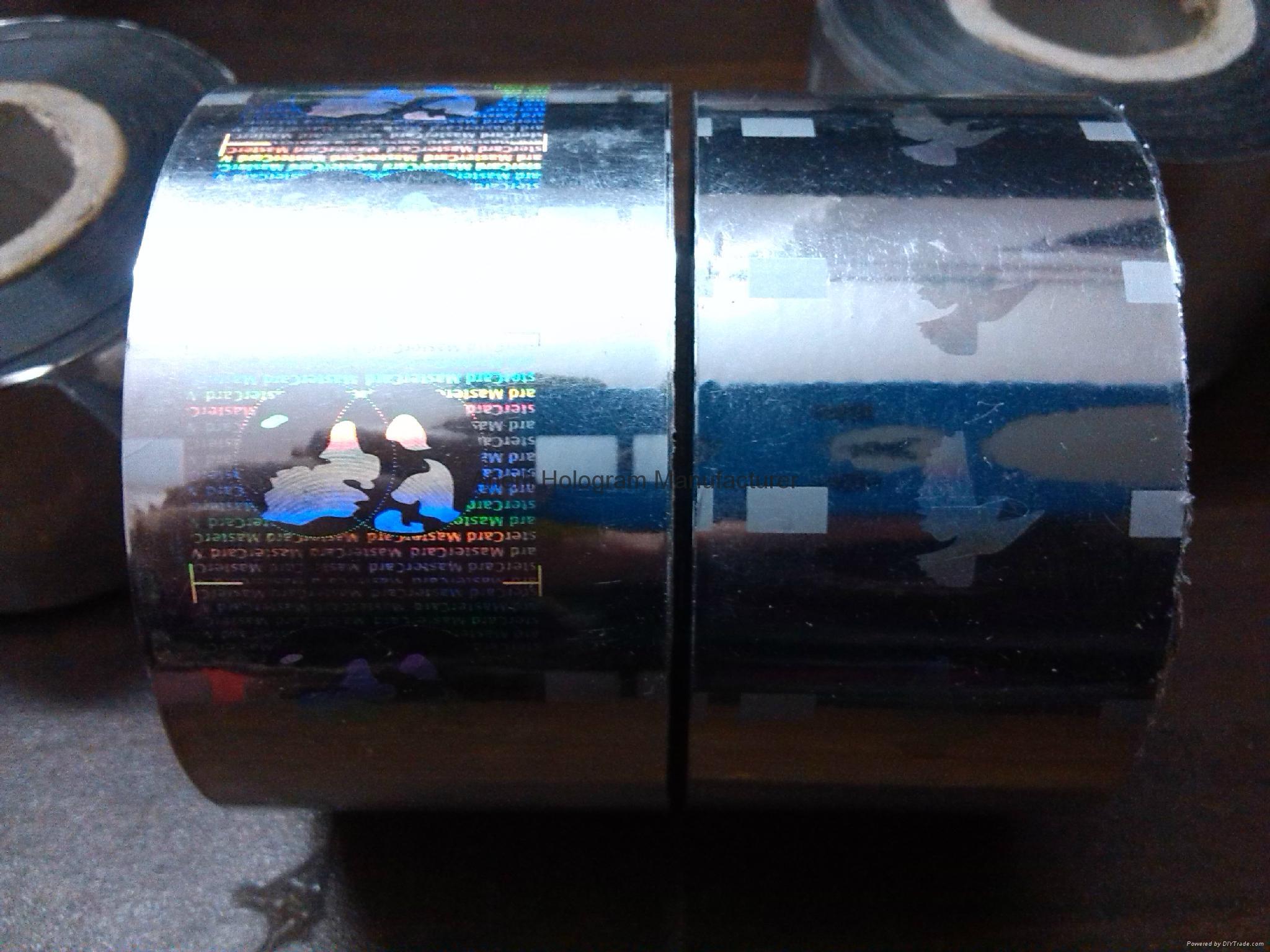 Hot stamping heat press mastercard hologram