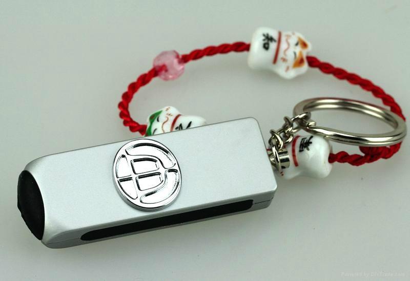 百欣18款车标车用防静电钥匙扣 3