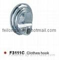 zinc alloy robe hook bathroom accessories clothes hook 1