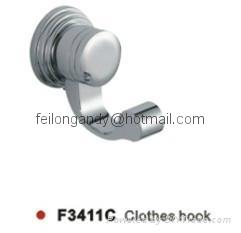 zinc alloy robe hook bathroom accessories clothes hook 2