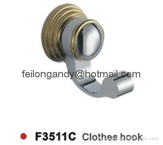 zinc alloy robe hook bathroom accessories clothes hook 3