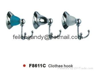 zinc alloy robe hook bathroom accessories clothes hook 5
