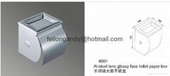 Al-steel lens glossy face toilet paper box