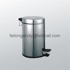 stainless steel dust bin  garbage can