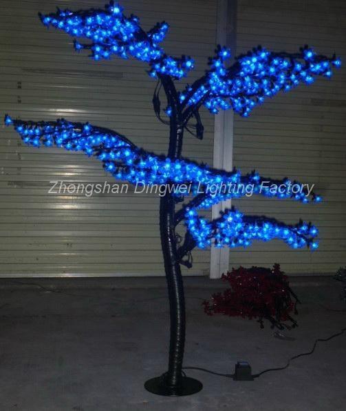 1.5M LED Christmas Artificial Bonsai Cherry Tree Lights 1