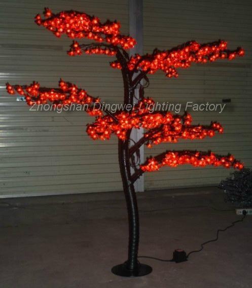 1.5M LED Christmas Artificial Bonsai Cherry Tree Lights 4