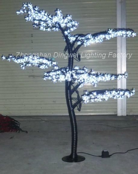 1.5M LED Christmas Artificial Bonsai Cherry Tree Lights 5
